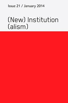 Cover New Institutionalism