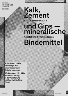 Plakat Materialausstellung mineralische Bindemittel
