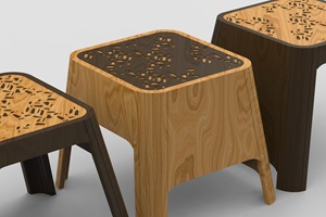 Stool (fictional commission for the House of Cultures) – Yuri Maurer (OD), Anaïs Meyer (TX), Renato Rüfenacht (OD)