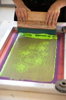 Working in the printing workshop