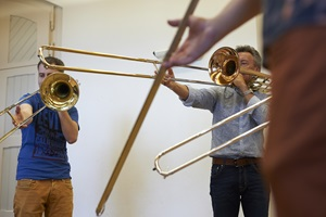 Trombone group lesson with Markus Wüest.
