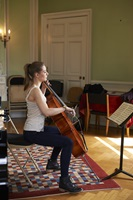 Cello student during her lesson at the Institute of Classical and Church Music.