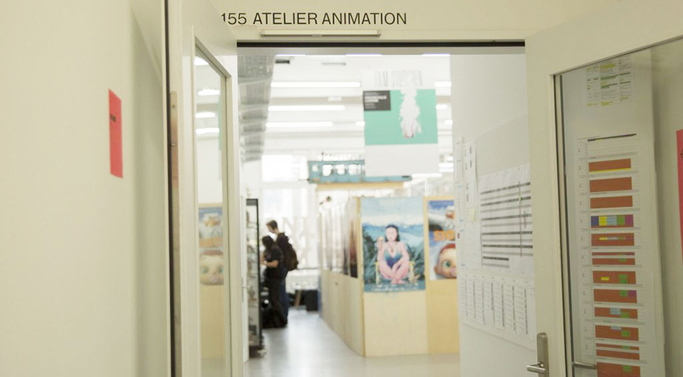 View into the Animation atelier