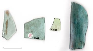 Fragments of Roman window glass, © Samples provided by LVR Rheinland