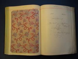 Pattern Book, Robt. Schwarzenbach & Co. AG, Thalwil, Jacquard silk, June 1900 , © private collection / HSLU