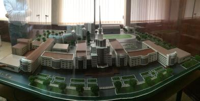 Model of the NCFU main campus in Stavropol, © J. Priskin
